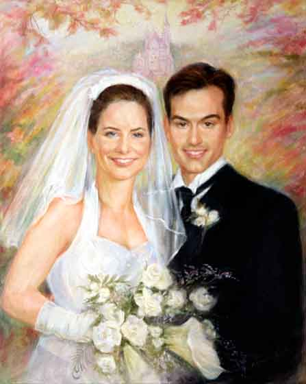 Wedding day portrait example