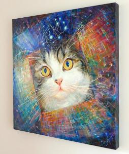 """Secret of the Cosmic Box"" fine art painting"