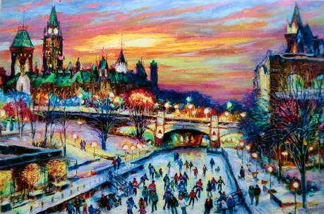 Holiday Art Greeting Cards by Ottawa artist Elena Khomoutova