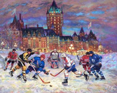 Hockey Passion - Original Six Hockey in Québec - art prints for good luck 7 by Ottawa Artist Elena Khomoutova