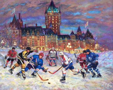 Hockey Passion - Original Six Hockey in Québec - art prints for good luck 7 by Ottawa Artist Elena Khomoutova