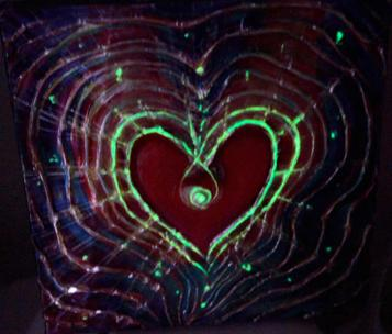 Light of Love - Feng Shui Spiritual Metaphysical energy art Painting - glowing in a dark - by world renowned Ottawa artist Elena Khomoutova