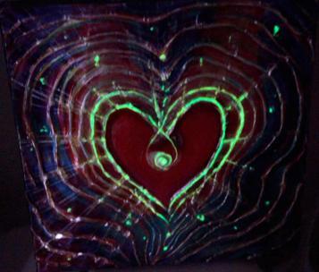 Light of Love - Feng Shui Spiritual Metaphysical energy art Painting - glowing in a dark - by world renowned Ottawa artist Elena Khomoutova
