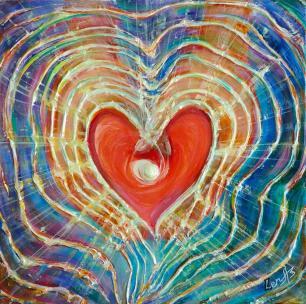 Light of Love - Feng Shui Spiritual Metaphysical energy art Painting by world renowned Ottawa artist Elena Khomoutova