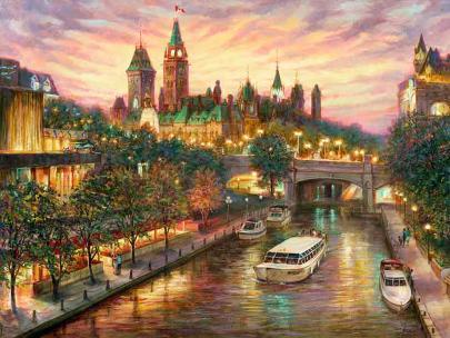 """Lovely Ottawa"" - giclee print by world renowned artist Elena Khomoutova"