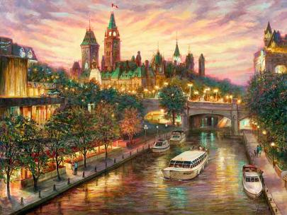 """Lovely Ottawa"" - giclee print by world renowned artist Elena Khomoutova"