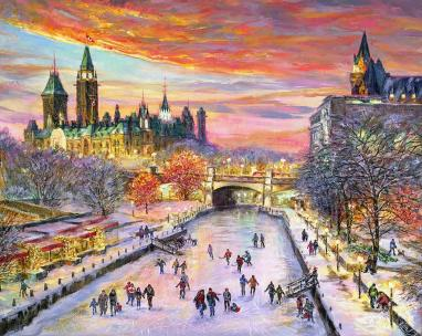 Peaceful Ottawa - for good luck - fine art limited edition print by Ottawa Artist Elena Khomoutova