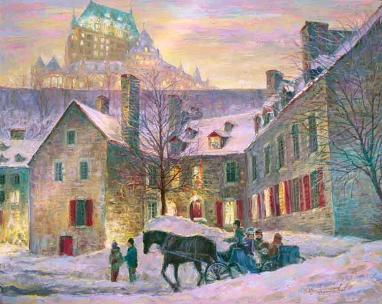 Quebec Lights - Lumières Québec - for Good Luck - spiritual metaphysical art canvas prints by Ottawa Artist Elena Khomoutova