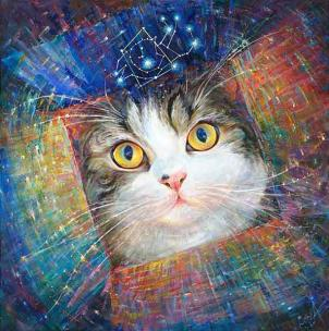 """Secret of the Cosmic Box"" inspired by Cat Maru - giclee limited edition print"