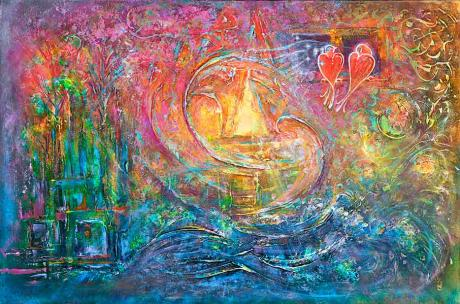 YOUniverse - metaphysical giclee print by world renowned artist Elena Khomoutova