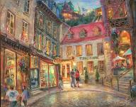 Funicular - fine art painting - for good luck, Quebec City