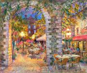 Courtyard Lights. Ottawa - Original fine art Painting - for good luck by world renowned Ottawa Artist Elena Khomoutova