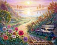 """Healing Path"" - Fine Art print for healing and connecting to your Spiritual DNA by Ottawa artist Elena Khomoutova"